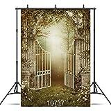JoneAJ 10737 - Fondo de Vinilo para Fotos de Halloween, diseño de Puerta de...