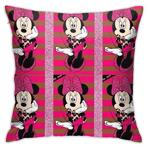 TUCBOA Almohada Cubierta Minnie Mouse Fundas De Almohada Exquisito Funda Decorativa para Cojín Personalizado Fundas Cojín para Familia Coche Cama S