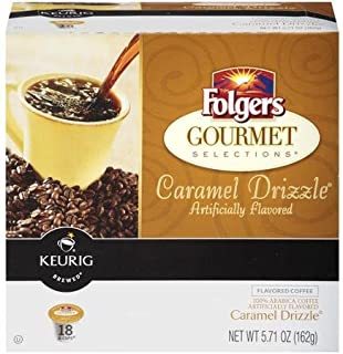 Folgers Gourmet Selections K-Cup Caramel Drizzle 12-kCups Keurig (3-pack)