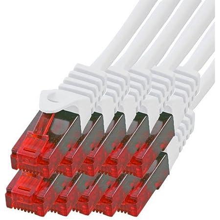 Bigtec 10 Stück 2m Gigabit Netzwerkkabel Patchkabel Computer Zubehör