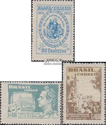 Brazilië Mi.-Aantal.: 765,767,769 (compleet.Kwestie.) 1951 Jean Baptiste, Theater, Onderwijs (Postzegels voor verzamelaars) Beroemdheden/Film/Theater