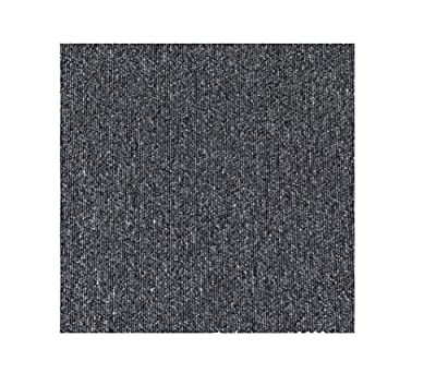 20 x 20inch Self Adhesive Carpet Floor Tiles, DIY Peel and Stick Ribbed Carpe Tiles for Residential & Commercial Squares Flooring Use - 20PCS ?Dark Gray?