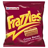 Crispy bacon flavour corn snacks Per bag 80 calories 3. 8g fat Suitable for vegetarians Popular since they were created over 30 years ago, frazzles are a bacon flavour, corn based snack