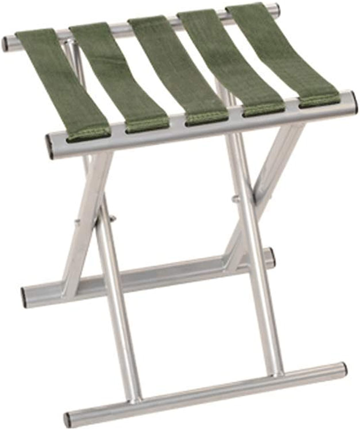 SCJ Folding Chairs Portable Folding Camping Stool,Metal, Thick, Folding, Portable Outdoor, Fishing, Climbing (color   White)