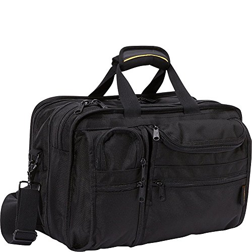 A.Saks Ballistic Nylon Expandable 10 Pocket w/Laptop Compartment (Black)