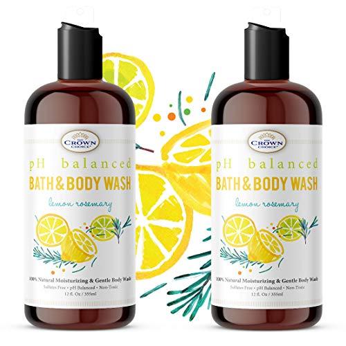 Sensitive Skin Body Wash Natural (2 PK)| Luxury pH 5.5 Balanced Essential Oils Bodywash | Best Non-Irritating and Soothing Shower Body Gel Wash for Men, Women