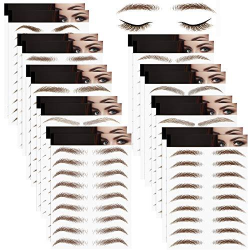 18 Sheets 4D Hair-Like Authentic Eyebrows Waterproof Eyebrow Tattoo...