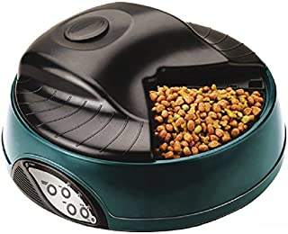 Q-pets Automatic 4 Tray Pet Feeder, Blue