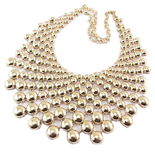 Les Trésors de Lily P8477 - Creador de collar 'Cléopatra' rosa dorado - ancho 6 cm.