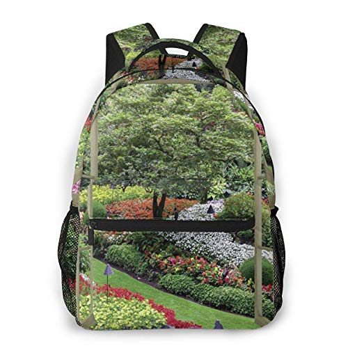 LNLN Mochila Casual verdeFashion Leisure Backpack Window View Garden Unisex Print Travel Backpack, School Backpacks