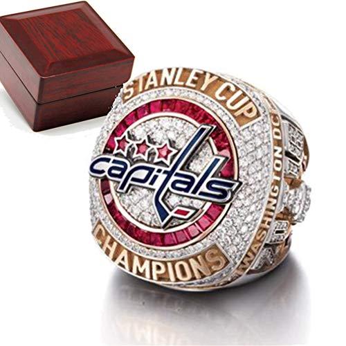 WANZIJING Meisterschaft Ring 2018 Capitals Stanley Cup Replica Ringe Champion Ring mit Display Boxen,11