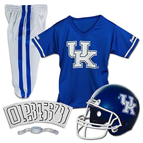 Franklin Sports NCAA Kentucky Wildcats Kids College Football Uniform Set - Youth Uniform Set - Includes Jersey, Helmet, Pants - Youth Small