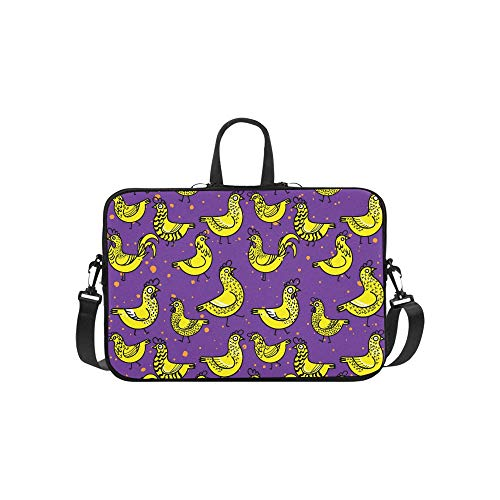 Laptop Sleeve Pattern Chickens Chickens Rooster Patterns Waterproof Laptop Shoulder Messenger Bag Pouch Bag Case Tote with Handle Fits 14 Inch Netbo -  GUJGK, 20191210-ShoulderBags-5234
