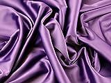 Stretch Duchess Satin Kleid Stoff lila–Meterware