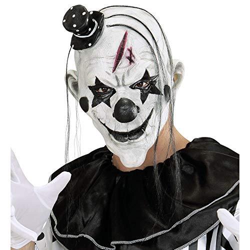Widmann 00848 Killer Clown Masker met haar en minihut voor volwassenen