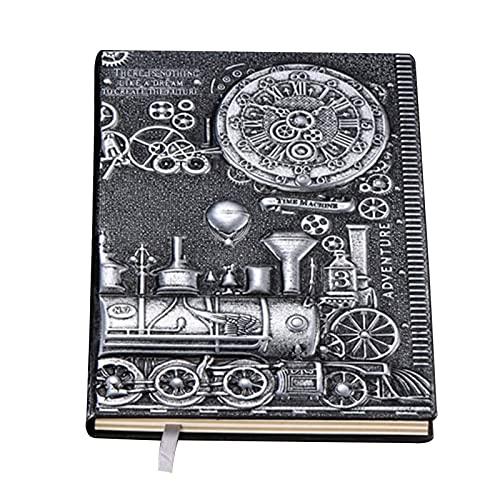 Chytaii - Cuaderno de piel sintética A5, diseño retro europeo en relieve, color bronce