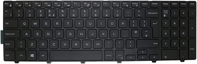 Laptop Keyboard for CLEVO W370ET MP-13H86GBJ430 6-80-W6700-191-1 United Kingdom UK with Black Frame and Backlit