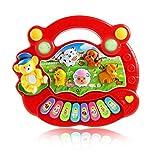 Achimer Jouet Musical pour bébé, Jouets de Musique pour bébé, Piano et Marteau 17,5 x 15 x 3 cm pour Enfants, garçons et Filles Jouets à partir de 1 2 Ans Rouge
