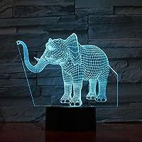 3D LED錯視ランプ エレファントナイトランプイリュージョン7色の装飾ライト子キッズギフト動物エレファントデスクナイトライトベッドサイドの変更