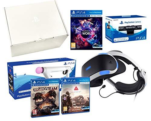 PlayStation VR 'Shooter Pack' Bravo Team + Farpoint + Aim Controller + VR Worlds + Cámera V2