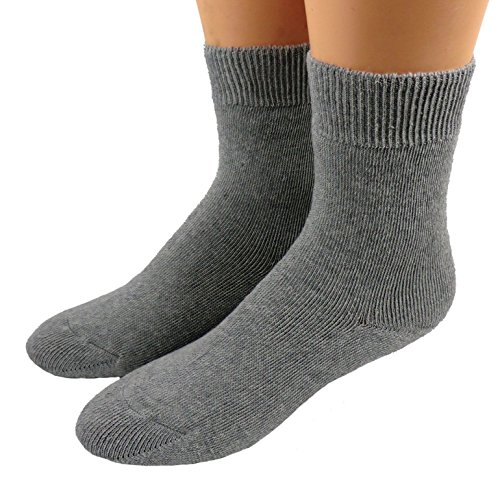 Shimasocks Thermo Ges&heits und Diabetiker Socken - Strümpfe o. Gummi für Damen und Herren, Farben alle:graumeliert, Größe:39/42