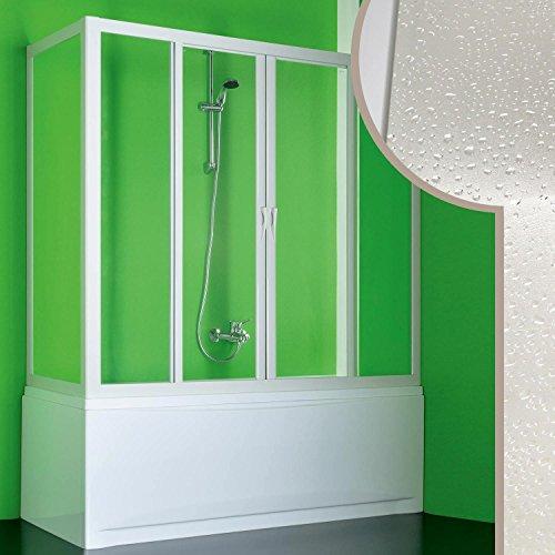 Cabine douche Pare-Baignoire 90x180 CM en acrylique mod. Plutone 2 avec ouverture centrale