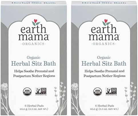 Organic Herbal Sitz Bath by Earth Mama Soothing Soak for Pregnancy and Postpartum Care 6 Count product image