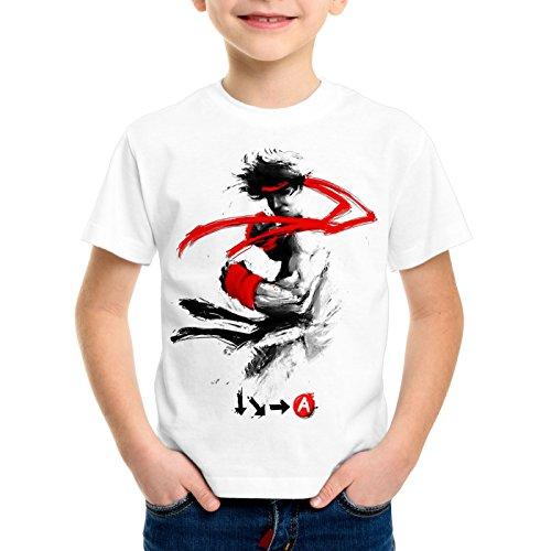 style3 Childhood Hero Fighter T-Shirt für Kinder final SNES ps ps2 ps3 Street Beat em up Arcade, Größe:152