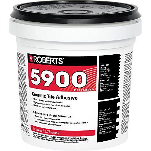 Roberts 5900-1 Ceramic Tile Adhesive, 1 Gallon, 128 Fl Oz