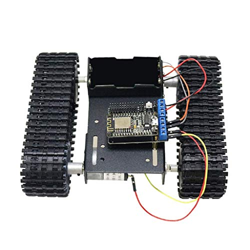 HYY-YY WiFi Nodemcu Control Aluminum Alloy Strong Motor Tank Car Chassis Track Crawler Kit for Arduino DIY Robot Science Educational Toy Speed Motor