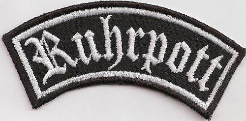 Biker Kutten Front Tab, RUHRPOTT, Motorrad Rocker Patch Aufnäher Abzeichen