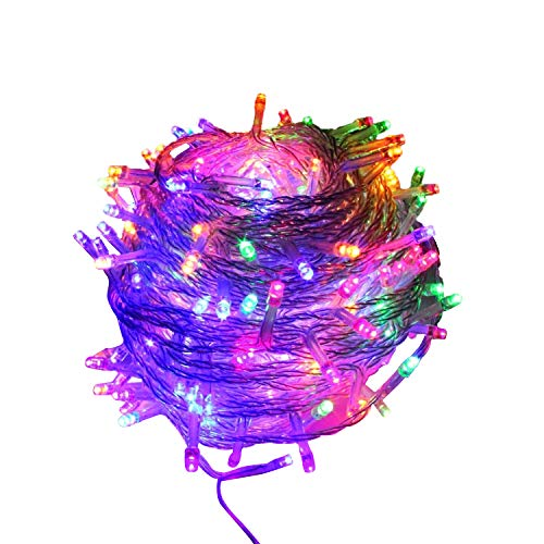 Uclet 20M 66FT 200 LED Multicolor Fairy String Lights Christmas Lighting 8 Modes Indoor Outdoor Wall Decoration for Garden Patio Wedding Trees Parties