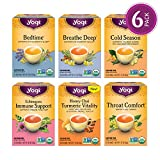 Yogi Tea - Get Well Variety Pack Sampler - 6 Teas for Cold & Flu Symptom Support - 6 Pack, 96 Tea...