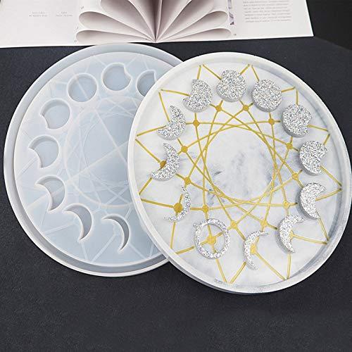 Corlidea Moldes de silicona con frase de luna para decoración de resina, moldes de joyería, moldes de silicona epoxi para adultos y niños