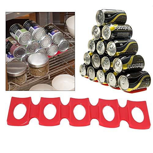 Stuoia del supporto della cremagliera della birra, stuoia rossa del silicone può vino della birra Supporto del portacenere della bottiglia che impila l'attrezzo ordinato Gadget della cucina