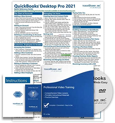 Learn QuickBooks Desktop Pro 2021 DELUXE Training Tutorial Video Lessons PDF Instruction Manual product image