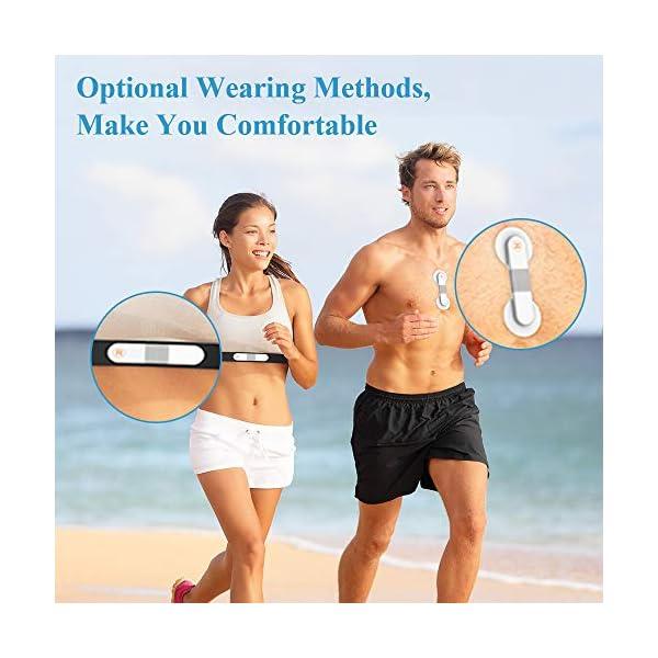 ViATOM Pulsómetro, Bluetooth/Ant+ HRM Run, Portatil ECG Monitor Correa de Pecho, Impermeable ANT+ Fitness Tracker con… 7