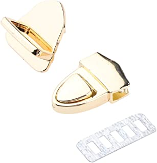 D DOLITY Alloy Buckle Turn Lock Snap Clasps Closure for DIY Bag Purse Hardware Craft