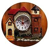 Vghi pet bed Castle Alarm Clock, Children's Gift Villa Creative Alarm Clock Students Interesting Bedside Clock Home Desktop Pendulum,D