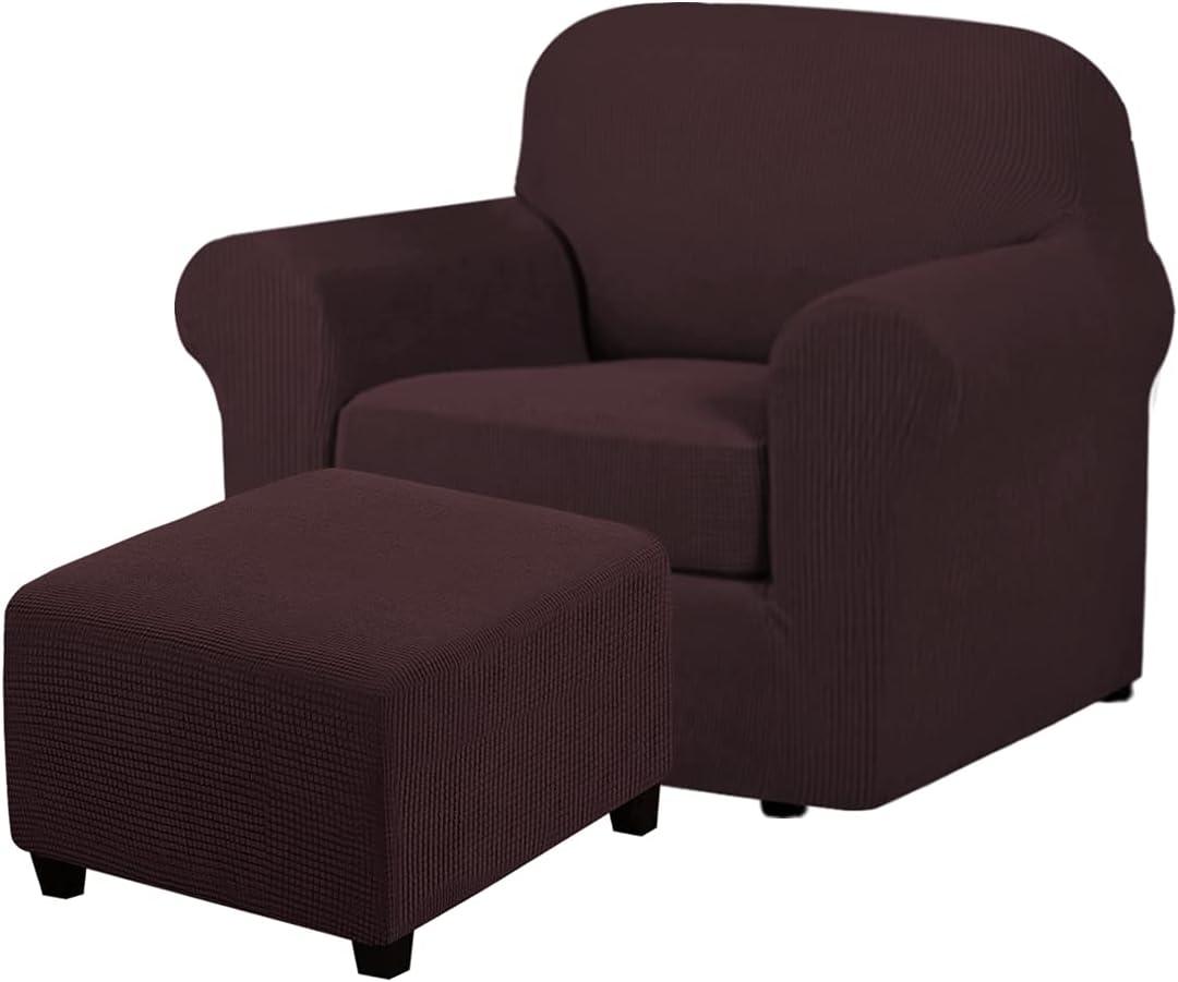 2 5 popular Piece Sale item Sofa Cover for Armchair Bundle Square Ottoman Co 32
