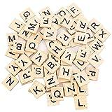 Beyond Dreams® 100 Pezzi tasselli per Scarabeo Gioco da Tavolo | Lettere di Legno per Decorazione Artigianale | Pezzi di Ricambio con Valore numerico