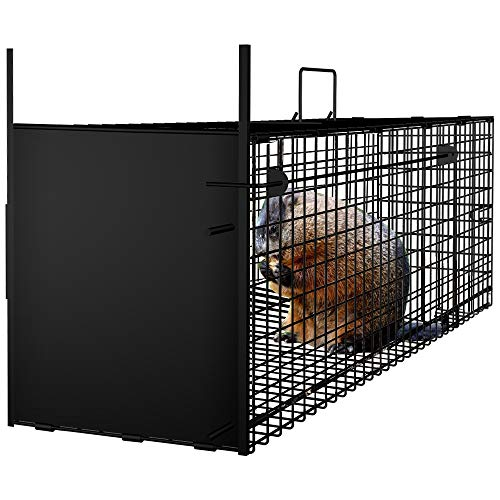 AMAGABELI GARDEN & HOME Humane Live Animal Trap 31'X10.5'X11.5' Catch Release Cage for Nuisance...