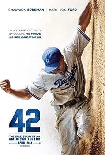 42 (2013) 27 x 40 Movie Poster Harrison Ford, Alan Tudyk, Christopher Meloni, Lucas Black, John C. McGinley, Style A