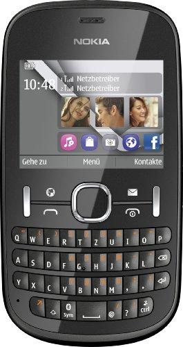 Nokia Asha 200 Handy (6,1 cm (2,4 Zoll) Bildschirm, 2 Megapixel Kamera, QWERTZ-Tastatur, Dual-SIM) Graphit