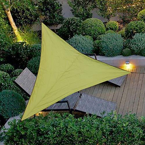 Vurucaa Toldo triangular impermeable con bloqueo UV para jardín, patio, toldo verde de 6 x 6 m