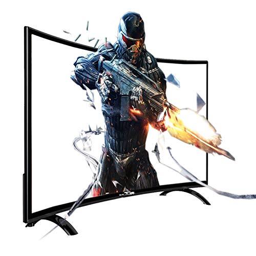 Home appliances Televisor Curvo Inteligente 4K HDR con WiFi, Televisor LED UHD Ultradelgado 3000R, Interfaz Externa Rich TV, Procesador De 2 Núcleos De 64 bits