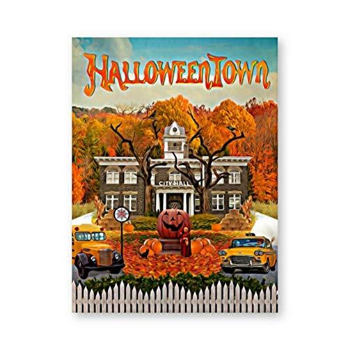 nr Halloween Town Poster und Druck Classic Fantasy Family Comedy Filme Leinwand Malerei Wandbild für Wohnzimmer Home Decor 50x70cm ungerahmt