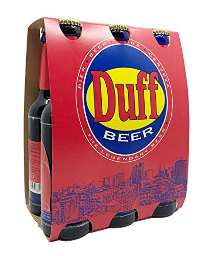 Duff Beer Sixpack - the legendary Beer - blaue Bierflasche (6x0,33l) inkl. Pfand