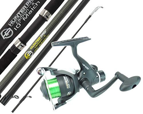 Hunter Pro Float Match Fishing Rod & Reel 10' Carbon Rod & HP40R Rear Drag Reel