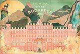 Poster 100 x 70 cm: Das Grand Budapest Hotel von Ella